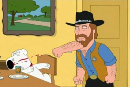 Chucks beard lays a smack down