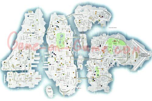 Grand Theft Auto 4 Map