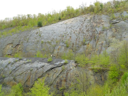 a more straight south view of the Whaleback; Cam, Dalton & Blake for scale